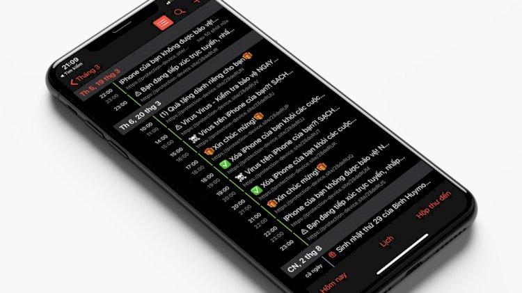 Hướng dẫn xóa thông báo lạ từ ứng dụng Lịch mặc định trên iOS