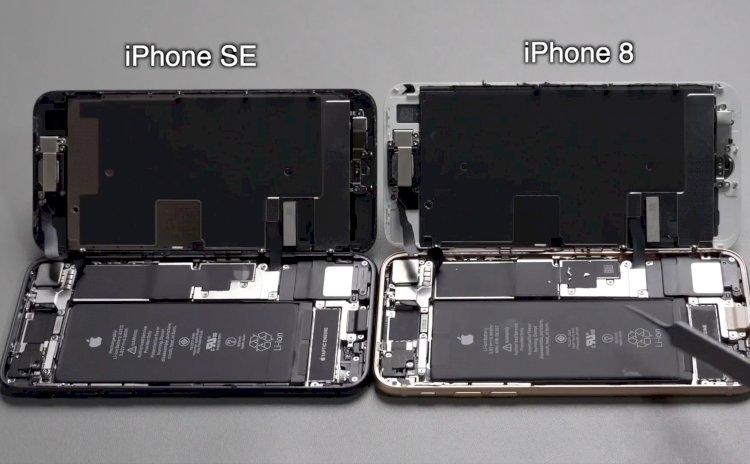 Mổ bụng iPhone SE 2020 và iPhone 8, giống nhau như 2 giọt nước.