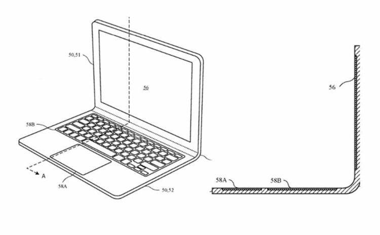 Bằng sáng chế mới của Apple: MacBook không sử dụng bản lề nữa mà sẽ uốn cong được