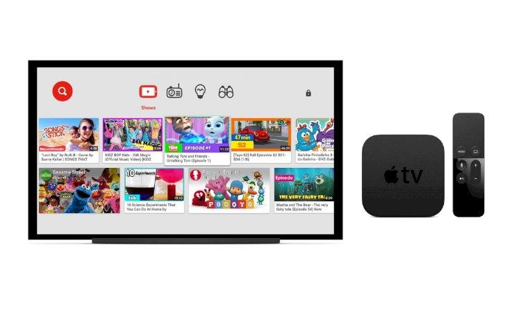 Ứng dụng YouTube Kids nay đã có cho Apple TV
