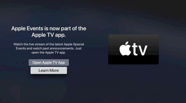 Apple gộp ứng dụng dự kiện tvOS Events vào ứng dụng Apple TV trước sự kiện WWDC