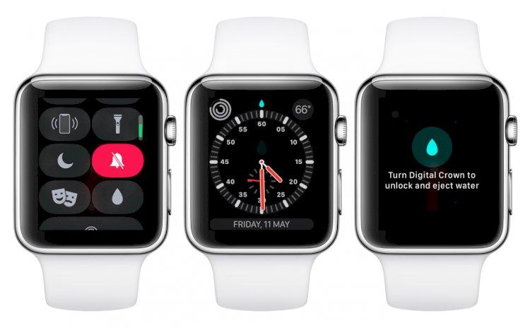 Cách mà Apple Watch đẩy nước ra sau khi đi bơi, nhúng nước