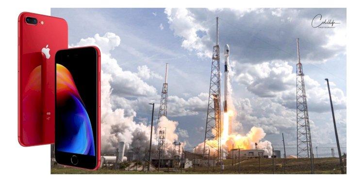 Chiêm ngưỡng tác phẩm chụp cảnh phóng tên lửa Falcon 9 bằng iPhone 8 Plus