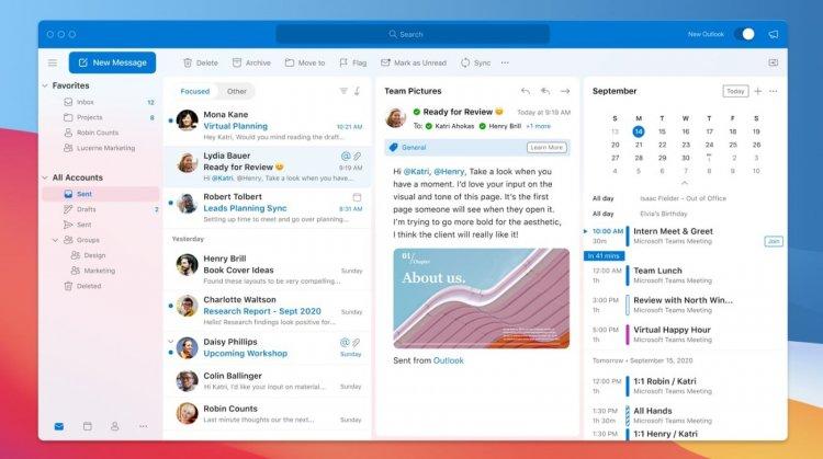 Microsoft thông báo sẽ cho ra mắt thiết kế mới cho Outlook theo phong cách Big Sur