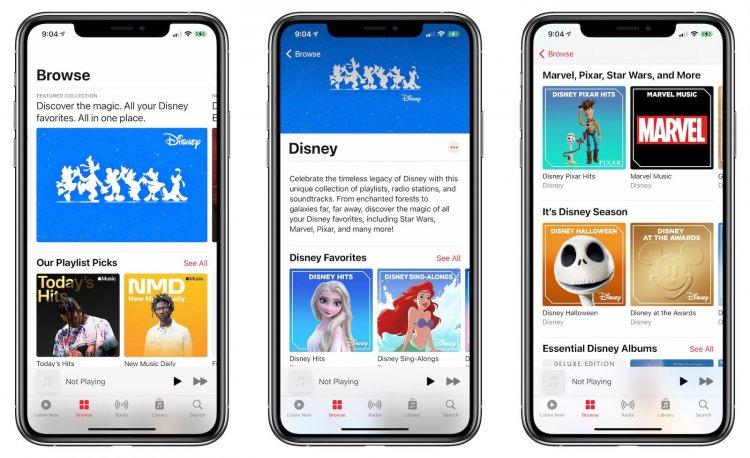 Apple Music mở trang riêng cho các tác phẩm nhạc phim, playlist và radio station của Disney
