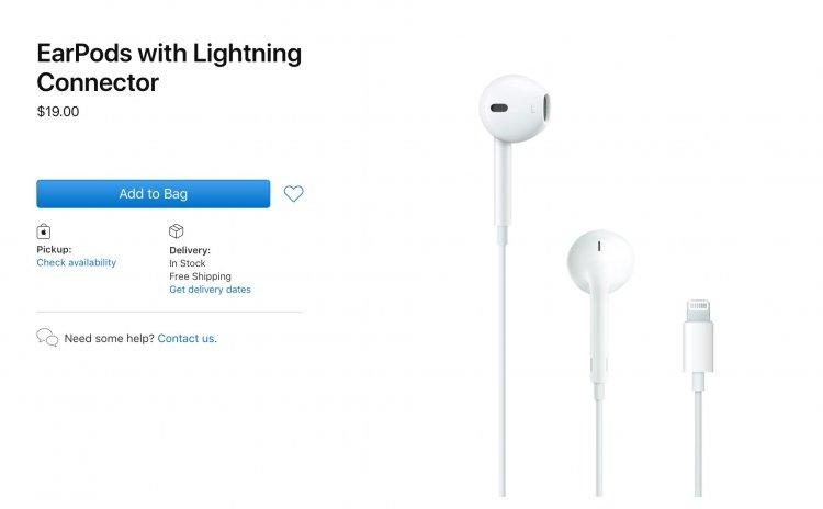 Apple giảm giá 10$ tai nghe EarPods Lightning và củ sạc trên Apple Store