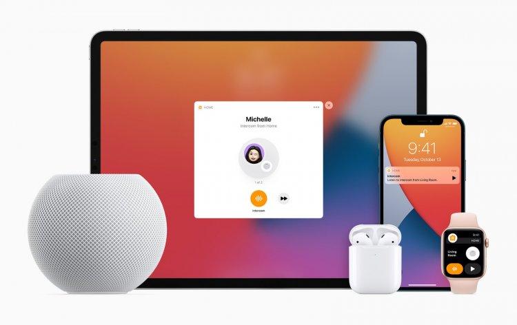 Tính năng Intercom sẽ hoạt động trên iPhone, iPad, HomePod, Apple Watch, AirPods, và cả CarPlay