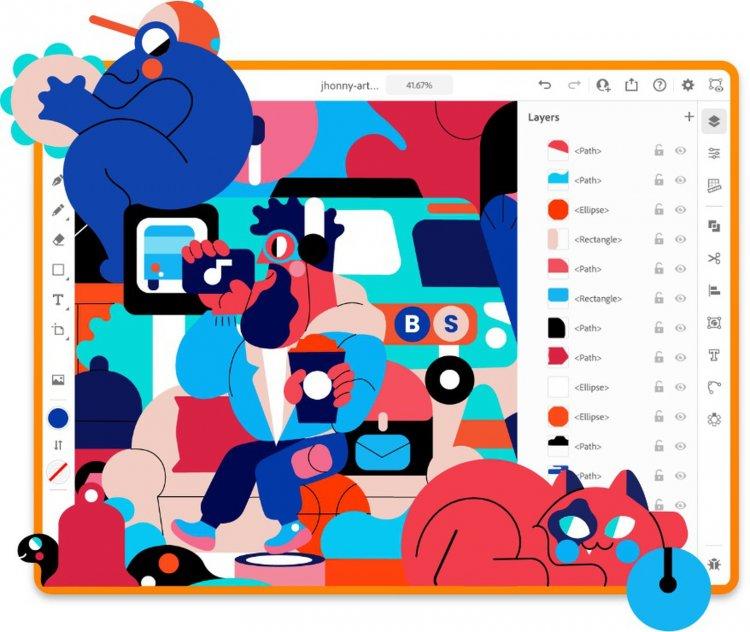 Adobe phát hành illustrator lên iPad