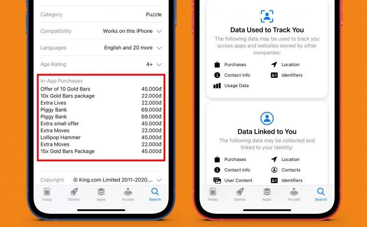 Cách xem trước vật phẩm In-App Purchases và các dữ liệu cá nhân app thu thập trước khi tải về iPhone