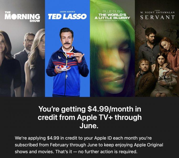 Apple tiếp tục gia hạn dịch vụ Apple TV+ miễn phí đến hết tháng 6