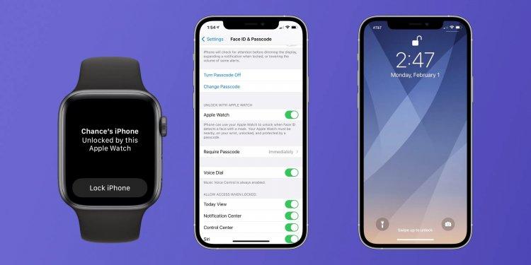 Mở khoá iPhone với Apple Watch khi đeo khẩu trang
