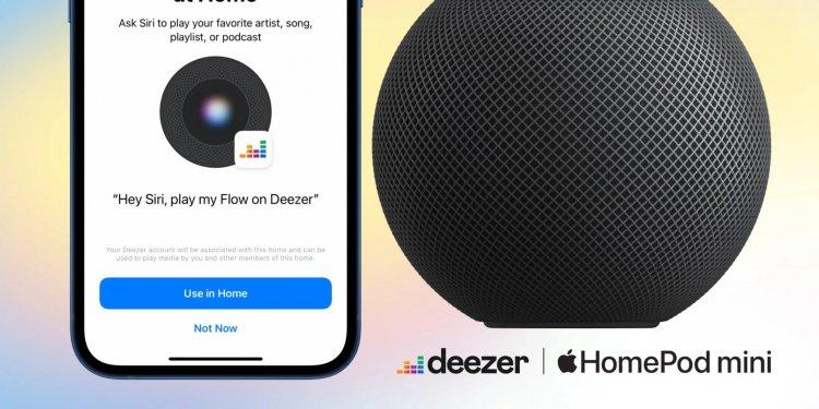 Người dùng HomePod đã có thể stream nhạc trực tiếp từ Deezer