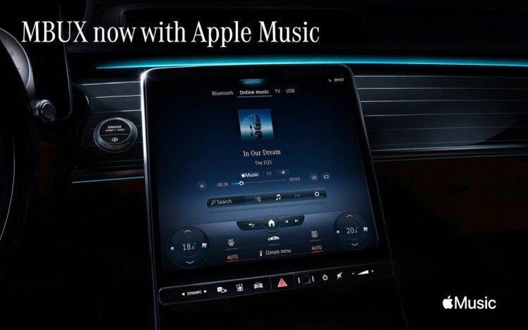 Apple Music đã được tích hợp trên hệ thống thông tin giải trí Mercedes-Benz MBUX