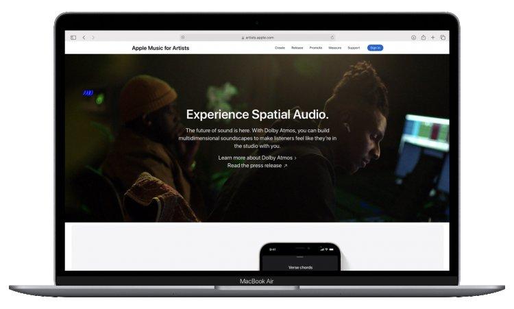 Apple Music for Artists thay đổi giao diện, nhấn mạnh về Spatial Audio