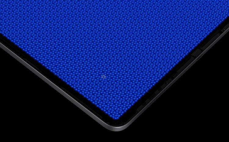 Hình ảnh cận cảnh đèn nền mini-LED trên iPad Pro 12.9 dưới kính hiển vi