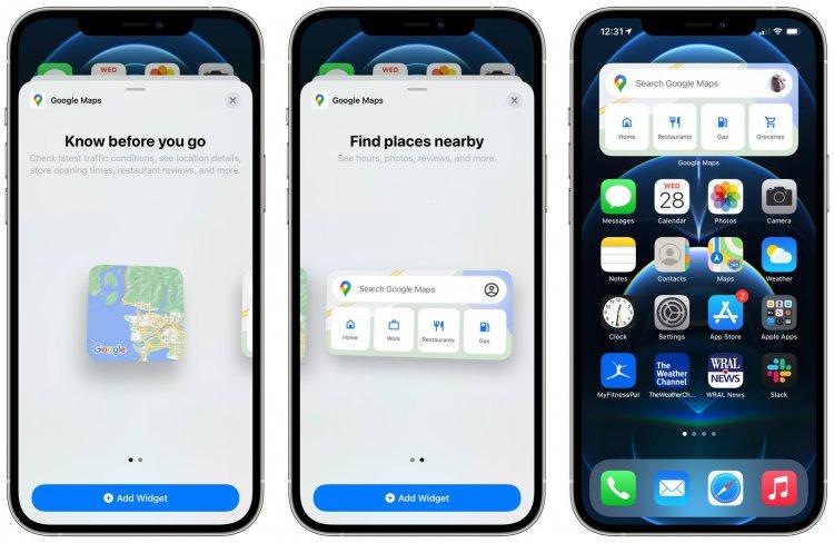 Ứng dụng Google Maps được bổ sung thêm Home Screen Widgets trên iPhone