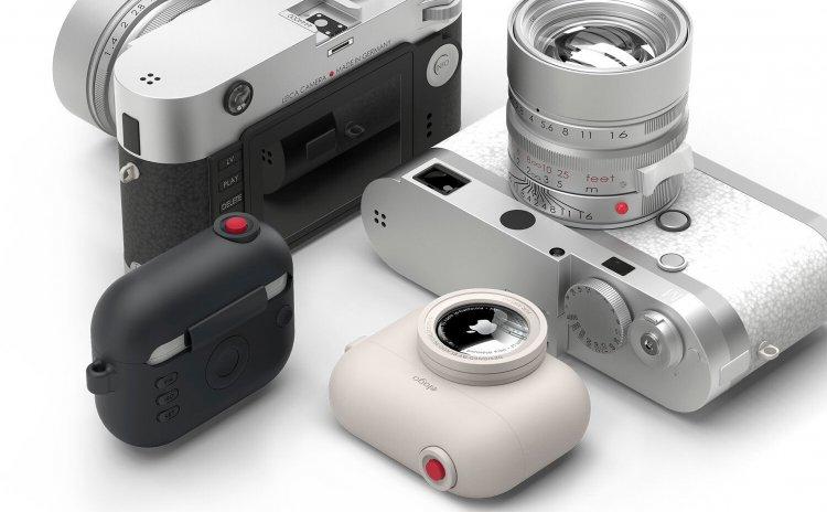 Airtag Case biến Airpod Pro thành một thành một chiếc máy ảnh cực kì dễ thương