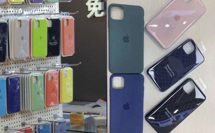 Lộ ảnh ốp lưng iPhone 11 mới: Thêm màu mới, Logo Apple được đẩy xuống chính giữa.