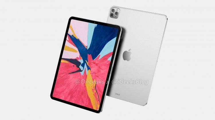 Rò rỉ hình ảnh render iPad Pro mới với cụm 3 camera như trên iPhone 11 Pro
