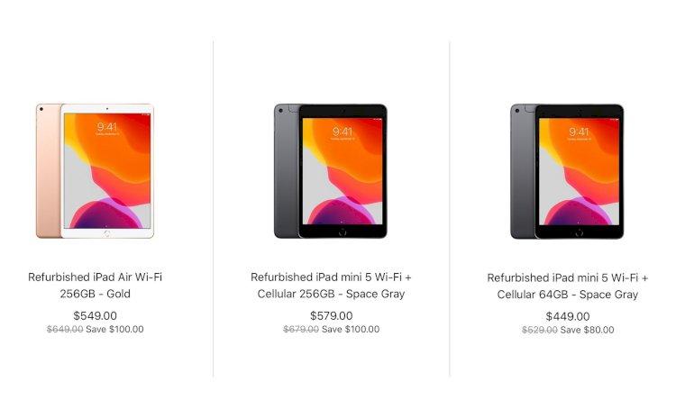 Apple bắt đầu bán iPad Air và iPad mini (bản 2019) refurbished: Rẻ hơn 80 - 100 USD